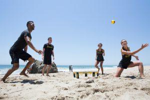 activité sportive sur la plage